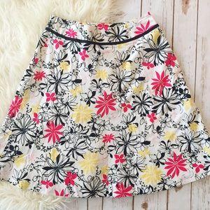 Oscar de la Renta floral design a line skirt
